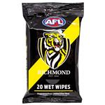 AFL Wet Wipes Richmond Tigers 20 Pack