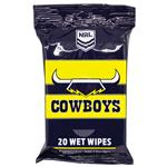 NRL Wet Wipes North Queensland Cowboys 20 Pack