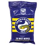 NRL Wet Wipes Paramatta Eels 20 Pack