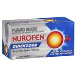 Nurofen Quickzorb Pain Relief Tablets 96 pack Ibuprofen Lysine 342mg