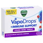 Vicks VapoDrops Immune Support Blackcurrent 36 Lozenges
