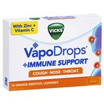 Vicks VapoDrops Immune Support Orange 16 Lozenges