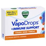 Vicks VapoDrops Immune Support Orange 36 Lozenges