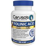 Carusos Natural Health Folinic Acid 500mcg 120 Tablets
