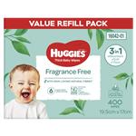 Huggies Fragrance Free Wipes 400 Pack
