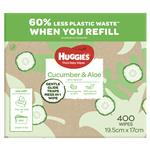 Huggies Cucumber & Aloe Wipes 400 Pack