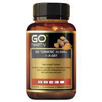 Buy GO Healthy Turmeric 30000+ 1 A Day 30 Vege Capsules ...