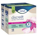 Tena Pad Discreet UltraThin Long Length 12 Pack