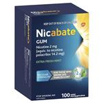 Nicabate Gum 2mg Extra Fresh 100 Pieces