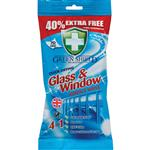Green Shield Glass and Window Wipes 70 Pack