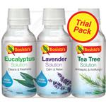 Bosistos Solutions Eucalyptus Lavender and Tea Tree 100ml Value Pack