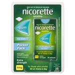 Nicorette Gum 4mg Icy Mint Pocket Pack 25 Pieces