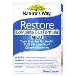 Nature's Way Restore Complete Gut Formula Adult 30 Tablets