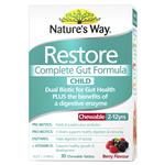 Natures Way Restore Complete Gut Formula Child 30 Tablets