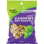Healthy Way Curly Cashews Dry Roasted 400g