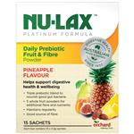 Nulax Daily Prebiotic Fruit & Fibre Powder 15 x 5.5g Sachets Pineapple