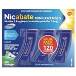 Nicabate Minis 1.5mg 120 Lozenges Exclusive Size
