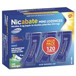 Nicabate Minis 4mg 120 Lozenges Exclusive Size