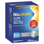 Nicabate Gum 2mg Extra Fresh 250 Pieces Exclusive Size