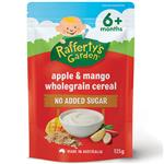 Raffertys Garden 6+ Months Apple & Mango Wholegrain Cereal 125g