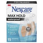 Nexcare Max Hold Waterproof Strips Assorted 15 Pack