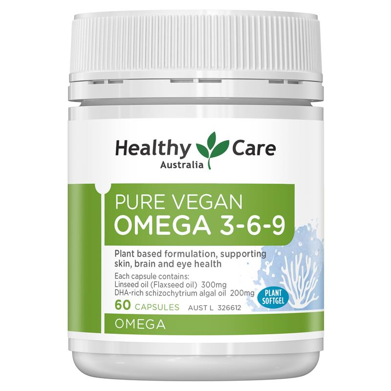 Buy Healthy Care Pure Vegan Omega 3 6 9 60 Capsules Online At Chemist Warehouse
