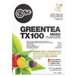 BSc Green Tea TX100 Mixed Flavours 12 x 3g Serve