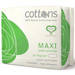 Cottons Maxi Pads w/wings 10 Regular Online Only