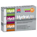 Hydralyte Electrolyte Effervescent Multi-Flavour 60 Tablets Exclusive Size