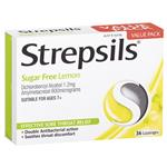 Strepsils Sugar Free Lemon 36 Lozenges