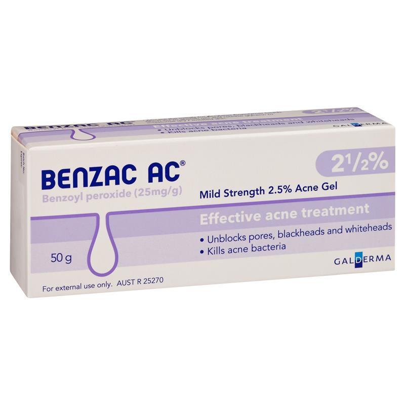 Benzac AC Gel 2.5% 50g - ePharmacy