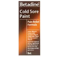 Betadine Cold Sore Pain Relief Paint 8ml