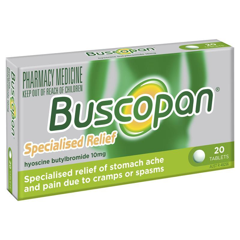 Buy Buscopan Tablets 20 Online at Chemist Warehouse®