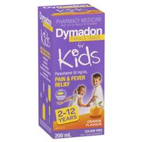 Dymadon Pain & Fever Relief for Kids Ages 2 years - 12 years 200mL