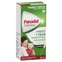Panadol Drops Colourfree Cherry/Vanilla 20mL