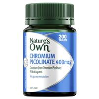Nature's Own Chromium Picolinate 400mcg 200 Tablets