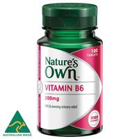 Nature's Own 0235 Vitamin B6 200mg Tablets 100