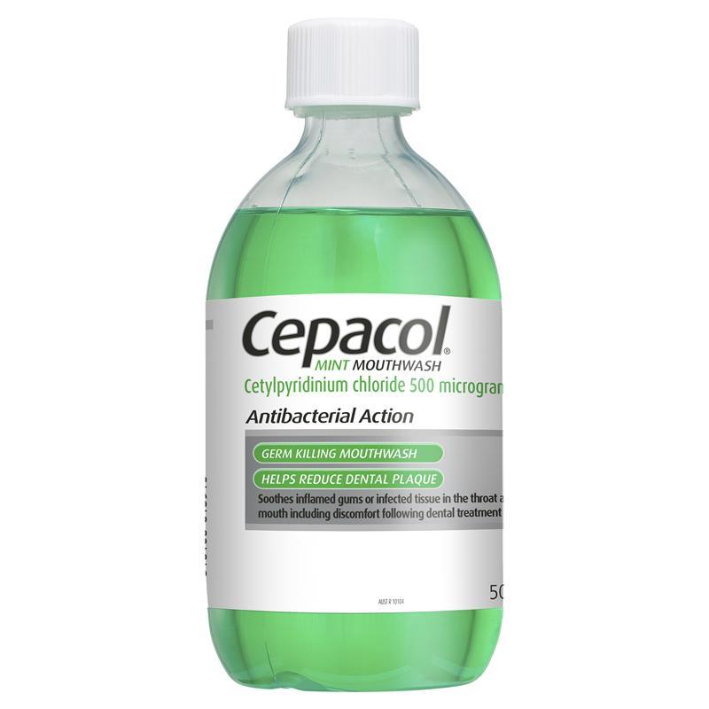 Cepacol Mouthwash Mint 500mL - Chemist Warehouse