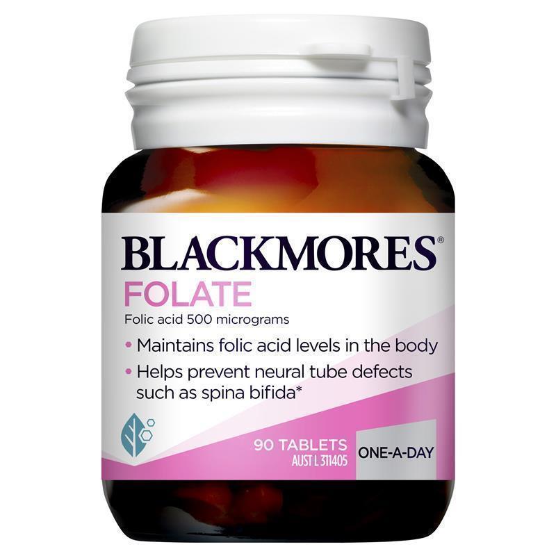 blackmores folate 500mcg 90 tablets   chemist warehouse