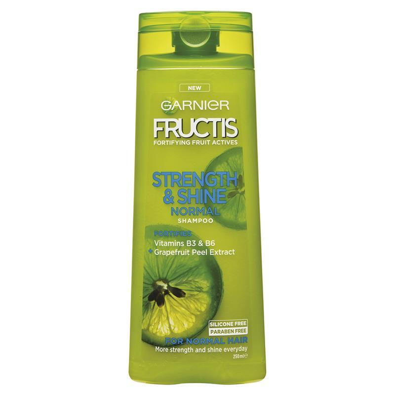 Garnier Fructis Grow Strong Shampoo FL Oz & Garnier Fructis Grow Strong Conditioner 12 Fl Oz. Hair is almost entirely made up of protein, which gives hair its strength. ALL NEW, paraben-free Fructis formulas with Active Fruit Protein, an exclusive combination of citrus protein, Vitamins B3 & B6, fruit & plant-derived extracts and.