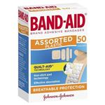 Band-Aid Plastic Strips Assorted Shapes 50 Pack