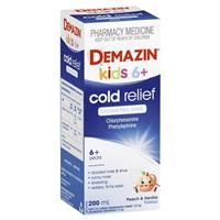 Demazin Cold Relief Clear Syrup Colour Free 200ml 6 Years +