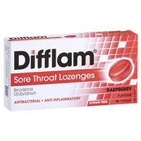 Difflam Sugar Free Raspberry 16 Lozenges