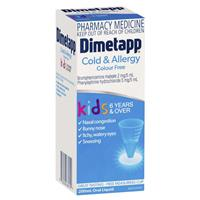 Dimetapp Cold and Allergy Colour Free 200mL