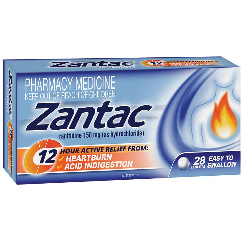 Buy Zantac 12 Hour 150mg 28 Tablets Online at Chemist ...