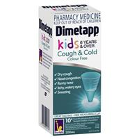 Dimetapp Cough and Cold Colour Free 200mL