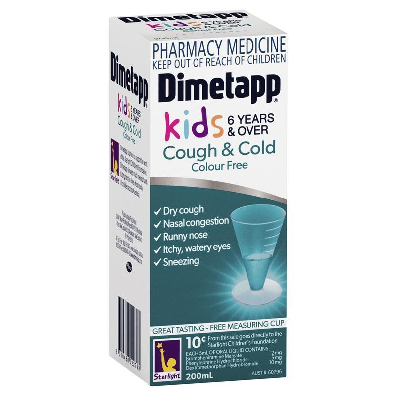 Dimetapp Dm Elixir Colour Free 200ml 6 Years Chemist