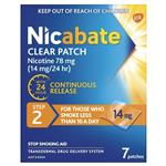 Nicabate Clear Patch Quit Smoking Step 2 14mg 7 count