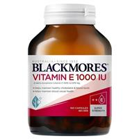 Blackmores Natural Vitamin E 1000IU 100 Capsules