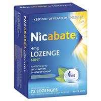 Nicabate Lozenges 4mg 72